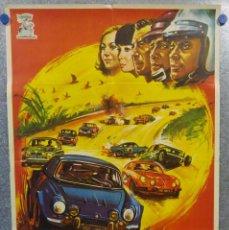Cine: SÁFARI RALLY 5000. EMMANUELLE RIVA, JEAN-CLAUDE DROUOT, YÛJIRÔ ISHIHARA. AÑO 1972. POSTER ORIGINAL. Lote 155966294