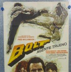 Cine: BOLT, AGENTE TRUENO. FRED WILLIAMSON, BYRON WEBSTER, MIKO MAYAMA. AÑO 1974. POSTER ORIGINAL. Lote 155967366