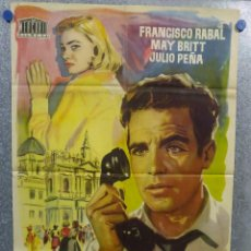 Cine: REVELACION. FRANCISCO RABAL, MAY BRITT. POSTER ORIGINAL . Lote 155990942