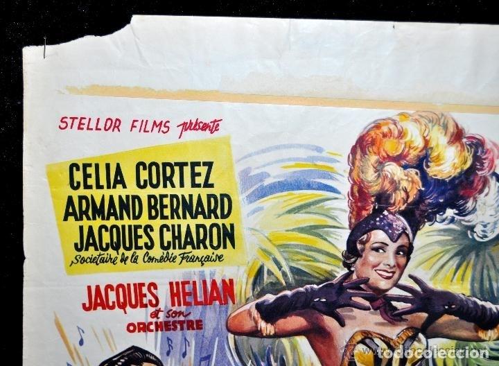 Cine: POSTER ORIGINAL DE 1957, LA BLONDE DES TROPIQUES, CELIA CORTEZ, ARMAND BERNARD, ETC - Foto 7 - 47595371