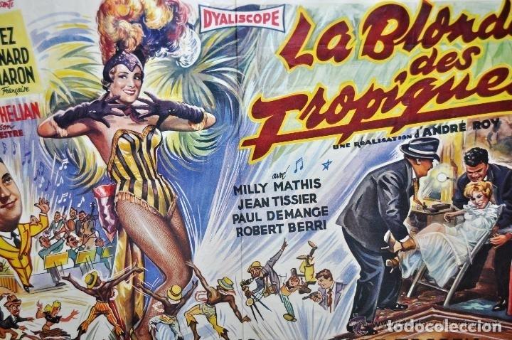 Cine: POSTER ORIGINAL DE 1957, LA BLONDE DES TROPIQUES, CELIA CORTEZ, ARMAND BERNARD, ETC - Foto 11 - 47595371
