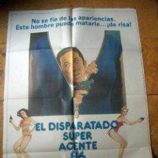 Cine: PÓSTER DE CINE ORIGINAL 70X100CM DELTA EL DISPARATADO SUPER AGENTE 86 MAXWELL SMART. Lote 156080230