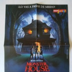 Cine: DOBLE POSTER: MONSTER HOUSE Y FUNERAL VIKINGO. Lote 156400210