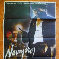 Cine: CARTEL DE CINE PELÍCULA NAVAJEROS ORIGINAL DEL AÑO 1980 ELOY DE LA IGLESIA JOSE L MANZANO. Lote 156520098
