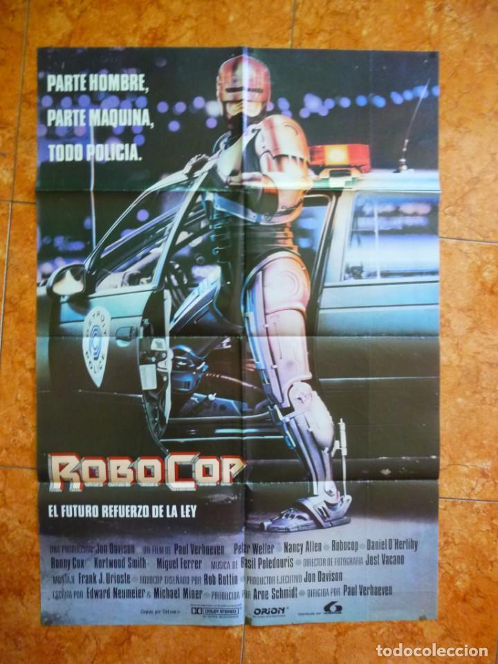 CARTEL DE CINE PELÍCULA ROBOCOP ORIGINAL DE ÉPOCA (Cine - Posters y Carteles - Ciencia Ficción)