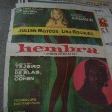 Cine: PÓSTER ORIGINAL DE CINE 70X100CM HEMBRA. Lote 156603670