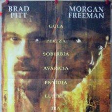 Cine: ORIGINALES DE CINE: SEVEN (BRAD PITT, MORGAN FREEMAN) 70X100. Lote 156630102