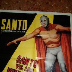 Cine: SANTO VS. LOS VILLANOS DEL RING POSTER. Lote 156746178