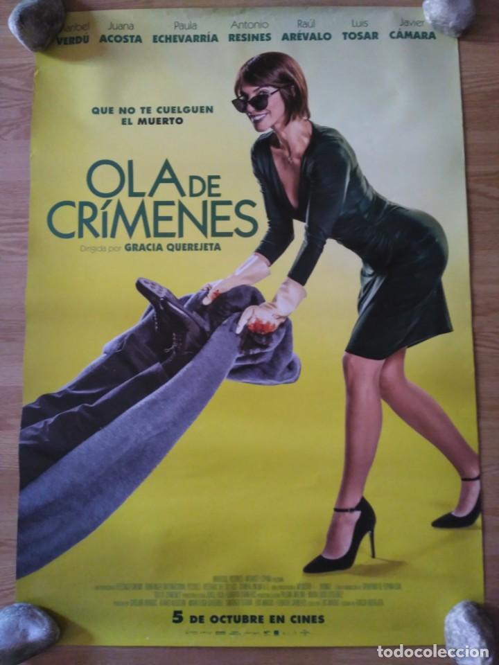 OLA DE CRIMENES - APROX 70X100 CARTEL ORIGINAL CINE (L63) (Cine - Posters y Carteles - Clasico Español)
