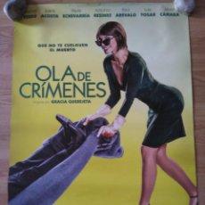 Cine: OLA DE CRIMENES - APROX 70X100 CARTEL ORIGINAL CINE (L63). Lote 156777534