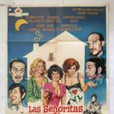 Cine: LAS SEÑORITAS DE MALA COMPAÑIA - POSTER CARTEL ORIGINAL - CONCHA VELASCO EMILIO GUTIERREZ CABA JANO. Lote 156810954