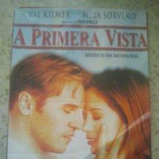Cine: CINE - A PRIMERA VISTA - CARTEL PÓSTER ORIGINAL DE LA PELÍCULA - VERSIÓN DIFÍCIL, ÚNICO EN TC. Lote 156851478