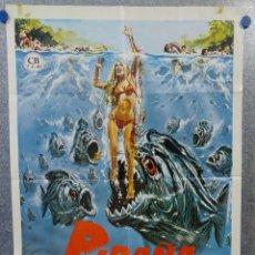 Cine: PIRAÑA. BRADFORD DILLMAN, HEATHER MENZIES. AÑO 1978. POSTER ORIGINAL. Lote 156870158