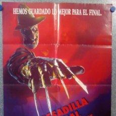 Cine: PESADILLA FINAL: LA MUERTE DE FREDDY (PESADILLA EN ELM STREET 6). AÑO 1991. POSTER ORIGINAL. Lote 156871314