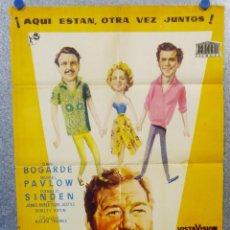 Cine: UN MÉDICO FENÓMENO. DIRK BOGARDE, MURIEL PAVLOW, DONALD SINDEN AÑO 1958. POSTER ORIGINAL. Lote 156872434