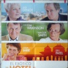 Cine: ORIGINALES DE CINE: EL EXÓTICO HOTEL MARIGOLD (JUDI DENCH, BILL NIGHY, TOM WILKINSON) 70X100 CMS. . Lote 156872638