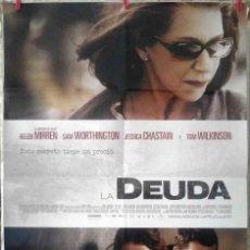 Cine: ORIGINALES DE CINE: LA DEUDA (HELEN MIRREN, SAM WORTHINGTON, JESSICA CHASTAIN, TOM WILKINSON) 70X100. Lote 156873122