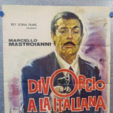 Cine: DIVORCIO A LA ITALIANA. MARCELLO MASTROIANNI, DANIELA ROCCA, STEFANIA SANDRELLI 1966 POSTER ORIGINAL. Lote 156873642