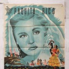 Cine: MARIA MORENA - CARTEL POSTER ORIGINAL ESTRENO - PAQUITA RICO FORQUE LAZAGA CIRE FILMS FREXELL ILUSTR. Lote 156886222