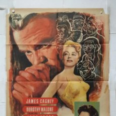 Cine: EL HOMBRE DE LAS MIL CARAS - POSTER CARTEL ORIGINAL - JAMES CAGNEY UNIVERSAL INTERNATIONAL MCP . Lote 156886822