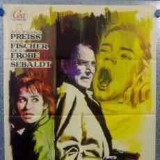 Cine: RAPTO SIN RESCATE. KAI FISCHER, WOLFGANG PREISS, CARL LANGE AÑO 1964 POSTER ORIGINAL. Lote 156889954