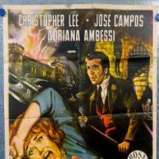 Cine: LA MALDICIÓN DE LOS KARNSTEIN. ADRIANA AMBESI, CHRISTOPHER LEE AÑO 1964 POSTER ORIGINAL. Lote 156891698