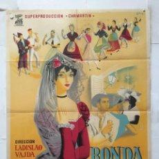 Cine: RONDA ESPAÑOLA - POSTER CARTEL ORIGINAL - JOSE SUAREZ ELENA SALVADOR LADISLAO VAJDA. Lote 157006670