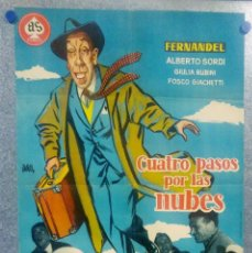 Cine: CUATRO PASOS POR LAS NUBES. FERNANDEL, ALBERTO SORDI, GIULIA RUBINI. POSTER ORIGINAL. Lote 157008286
