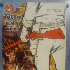 Cine: EL RIFLE DEL FORASTERO. STEWART GRANGER, RHONDA FLEMING. AÑO 1961 POSTER ORIGINAL. Lote 157009510