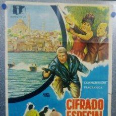 Cine: CIFRADO ESPECIAL. LANG JEFFRIES, JOSÉ GRECI, HELGA LINÉ. AÑO 1967 POSTER ORIGINAL. Lote 157015746