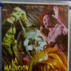 Cine: LA MALDICIÓN DE LA CALAVERA. PETER CUSHING, CHRISTOPHER LEE. AÑO 1966. POSTER ORIGINAL. Lote 157016218