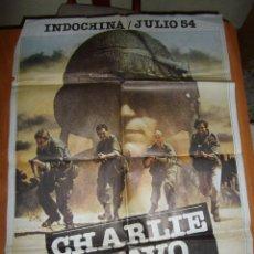 Cine: CARTEL ORIGINAL CHARLIE BRAVO BRUNO PRADAL, JAEN-FRANCOIS PORON, KARINE VERLIER. 1980. Lote 157016994
