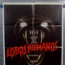 Cine: LOBOS HUMANOS. ALBERT FINNEY, DIANE VENORA, EDWARD JAMES OLMOS. AÑO 1982. POSTER ORIGINAL. Lote 157017042