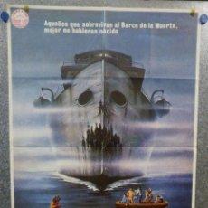 Cine: EL BARCO DE LA MUERTE. GEORGE KENNEDY, NICK MANCUSO, SAUL RUBINEK AÑO 1981. POSTER ORIGINAL. Lote 157021870