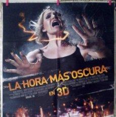Cine: ORIGINALES DE CINE: LA HORA MÁS OSCURA (EMILE HIRSCH, OLIVIA THIRLBY, MAX MINGHELLA) 70X100 CMS.. Lote 157128250