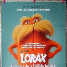 Cine: ORIGINALES DE CINE: LORAX (ANIMACIÓN) MODELO 1 - 70X100 CMS.. Lote 157128474