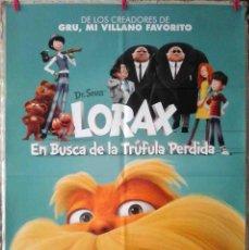 Cine: ORIGINALES DE CINE: LORAX (ANIMACIÓN) MODELO 2 - 70X100 CMS.. Lote 157128742