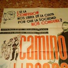 Cine: CARTEL ORIGINAL CAMINO DEL DESEO FRANCISCO RABAL. Lote 157283042