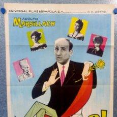 Cine: EL TÍMIDO. ADOLFO MARSILLACH, MARI CARMEN PRENDES, ANTONIO PRIETO AÑO 1965. POSTER ORIGINAL. Lote 157288890