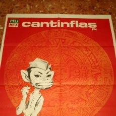 Cine: CARTEL ORIGINAL EL SIGNO DE LA MUERTE CANTINFLAS. Lote 157292641