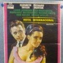 Cine: HOTEL INTERNACIONAL. ELIZABETH TAYLOR, RICHARD BURTON. AÑO 1973. POSTER ORIGINAL. Lote 162698980