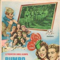 Cine: RUMBO A ORIENTE - AÑO 1950 CON DANNY KAYE Y DANA ANDREWS. Lote 157370882