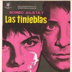 Cine: ROMEO, JULIETA Y LAS TINIEBLAS. Lote 157371402