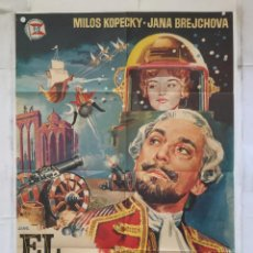 Cine: EL BARON FANTASTICO - CARTEL POSTER ORIGINAL - KAREL ZEMAN THE FABULOUS BARON MUNCHAUSEN JANO. Lote 157387442