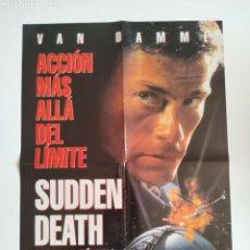 Cinema: POSTER REVISTA ACCION 41X58 MUERTE SUBITA - SEVEN CARTEL. Lote 157753165