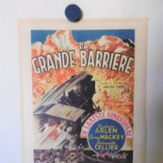 Cine: CARTEL LITOGRAFICO - THE GREAT BARRIER. Lote 158200678