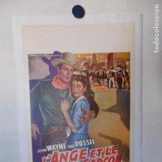 Cine: CARTEL LITOGRAFICO - EL ÁNGEL Y EL PISTOLERO. Lote 158202486