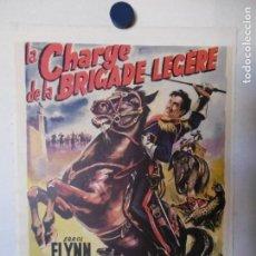 Cine: CARTEL LITOGRAFICO - LA CARGA DE LA BRIGADA LIGERA. Lote 158203182