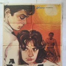 Cinéma: A PLENO SOL - POSTER CARTEL ORIGINAL - ALAIN DELON MARIE LAFORET MAURICE RONET A PLEIN SOLEIL MCP. Lote 158577950
