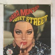 Cine: TUSET STREET - SARA MONTIEL LUIS GARCIA BERLANGA TERESA GIMPERA - CARTEL POSTER ORIGINAL. Lote 158580570